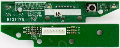 Купить в Барнауле:Плата ИК сенсор для ЖК телевизора Toshiba (09417-1, GAT20101H_IR)