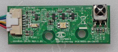 32AV833-IRLED REV:1.01 - Плата ИК сенсор для ЖК телевизора Toshiba