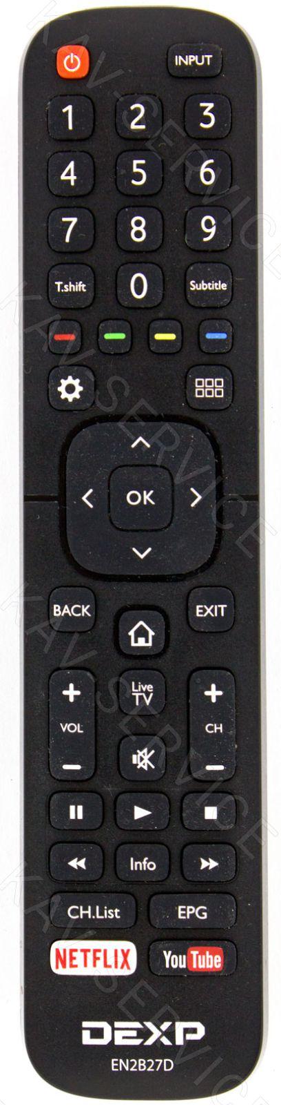 EN2B27D - Пульт дистанционного управления ЖК телевизора DEXP